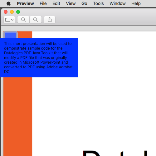 Slide Notes as seen in macOS Preview