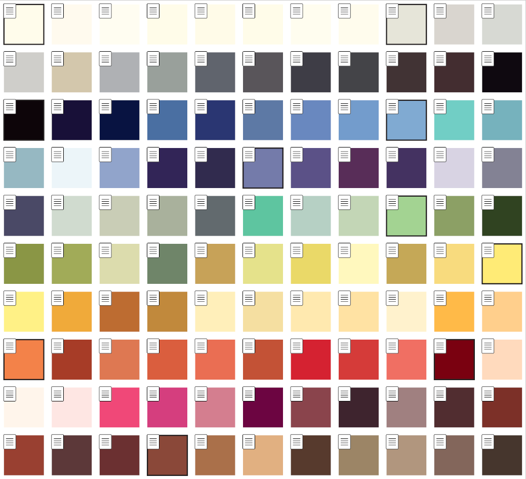 A compact version of the Werner Colours chart.